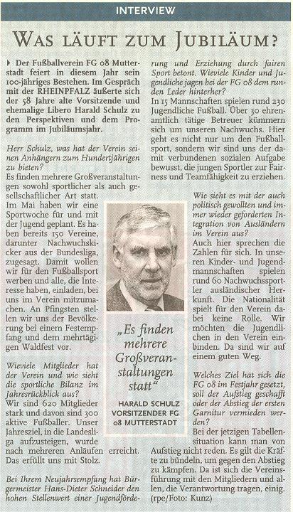 Interview mit Herrn Schulz