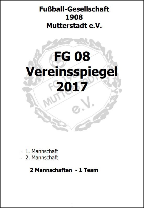 FG08 Vereinsspiegel 2017