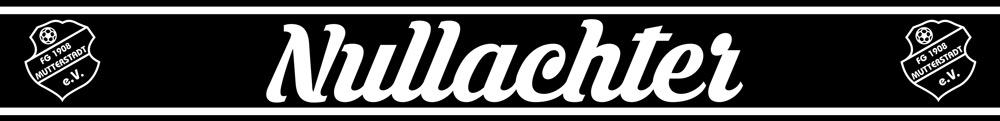 Nullachter Fanschal (Vorderseite) mit Schwarz-Weißen Fransen